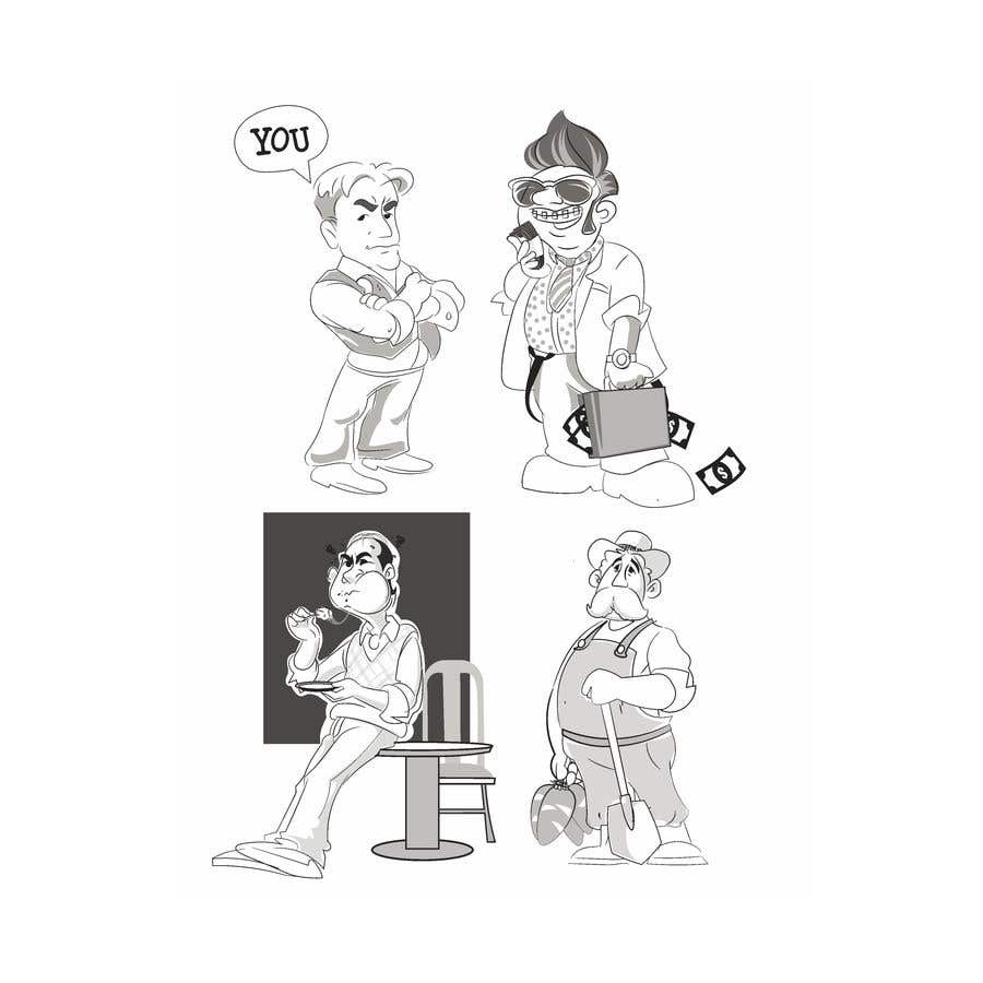 Proposition n°                                        38                                      du concours                                         Draw us 7 black pen line characters