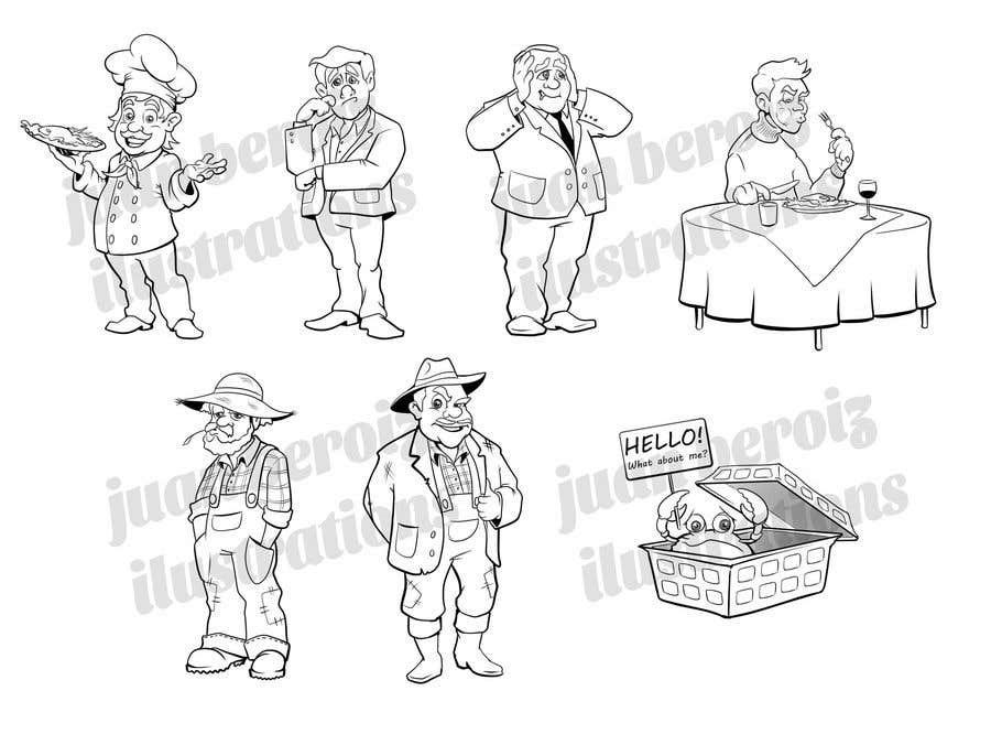 Proposition n°                                        23                                      du concours                                         Draw us 7 black pen line characters