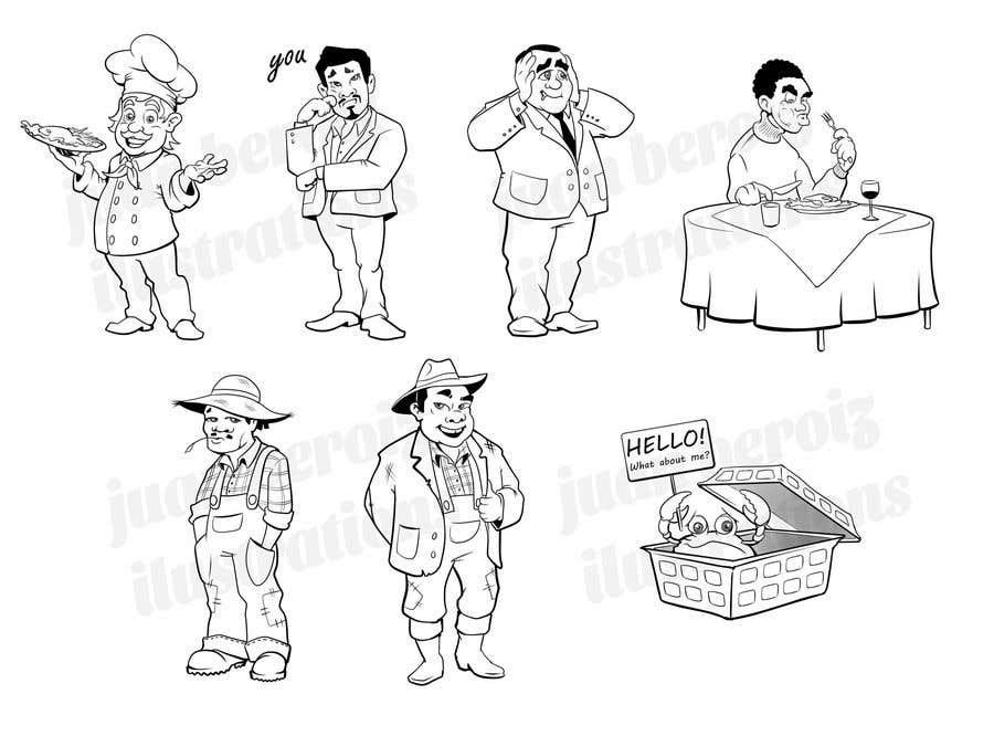 Proposition n°                                        26                                      du concours                                         Draw us 7 black pen line characters