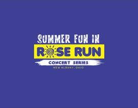 #208 untuk Summer Fun Rose Run Concert Series Logo for Tee shirts oleh jones23logo