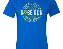 #189 untuk Summer Fun Rose Run Concert Series Logo for Tee shirts oleh GDProfessional