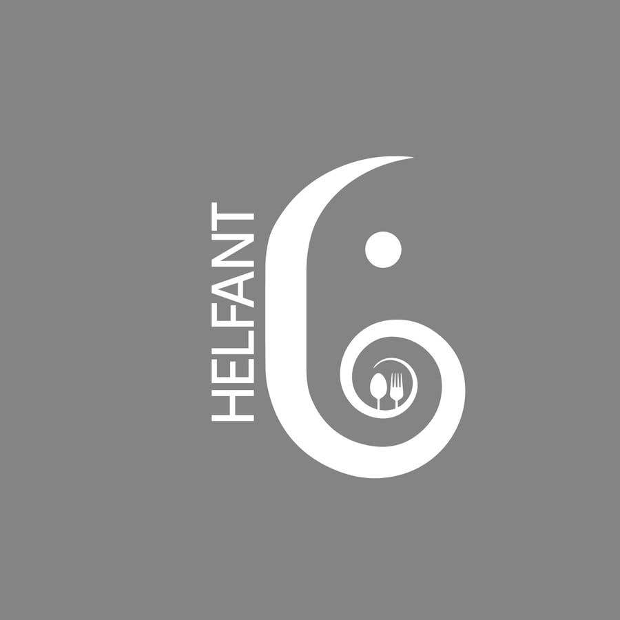 """Konkurrenceindlæg #                                        55                                      for                                         Design a logo for my restaurant """"Helfant"""". Which means Elephant and is a healthy Bowl restaurant."""
