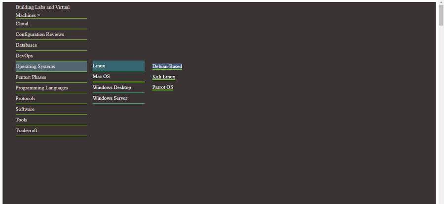 Penyertaan Peraduan #                                        17                                      untuk                                         Website Vertical Menu Design