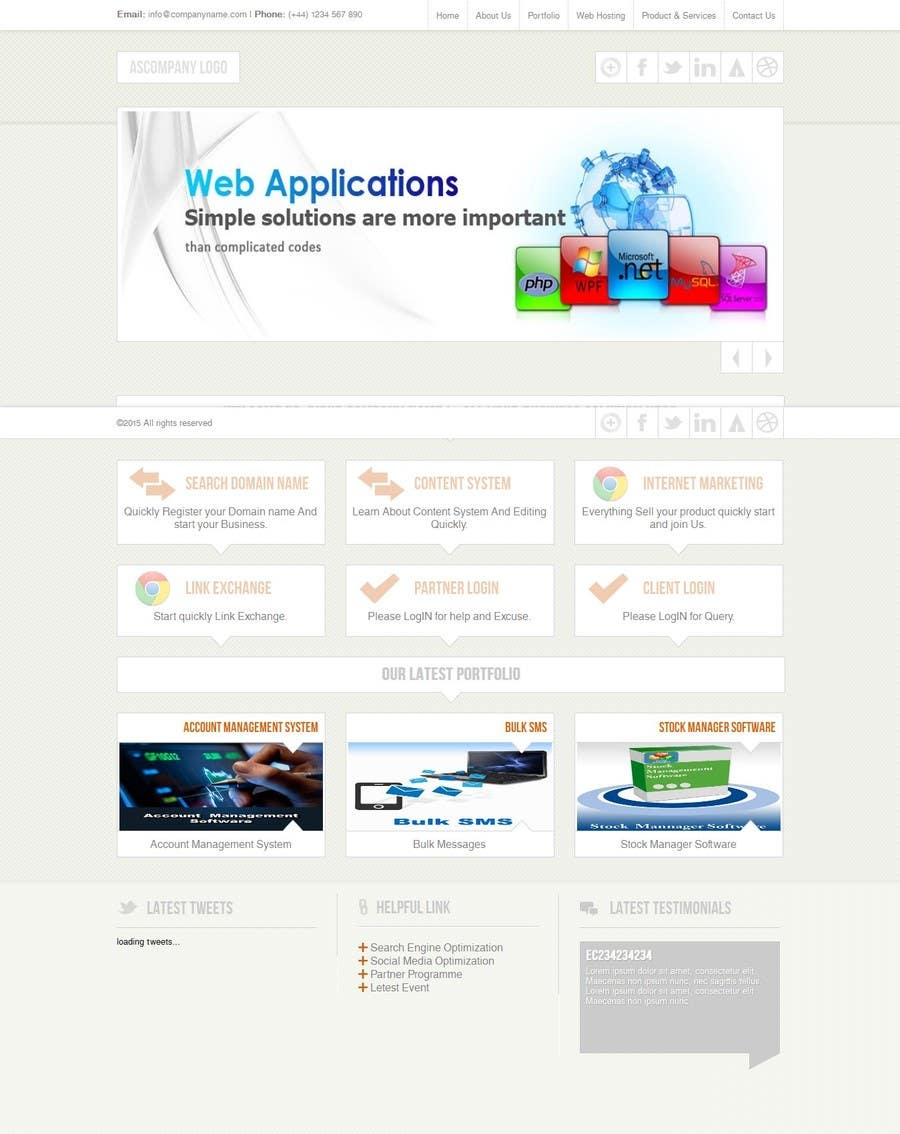 Proposition n°                                        13                                      du concours                                         Webpage design for software company
