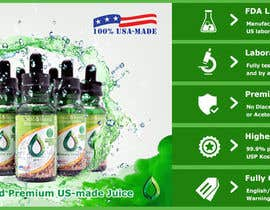#23 for Design a Banner for Crystal E Liquid - PG/VG Line af ducdungbui