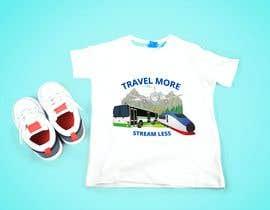 #12 для Travel More Stream Less tshirt от Akash5229