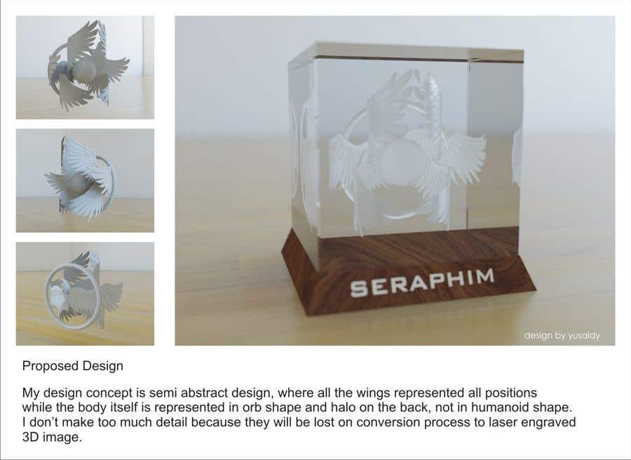 Kilpailutyö #                                        15                                      kilpailussa                                         3D Seraphim artwork