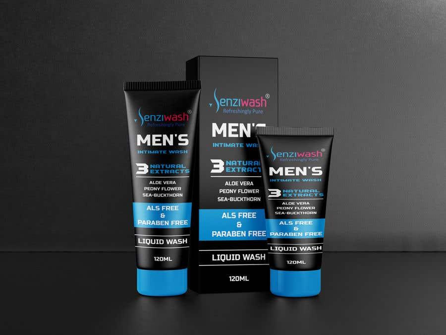 Конкурсная заявка №                                        29                                      для                                         Design carton and tube label for male intimate wash and create mock up