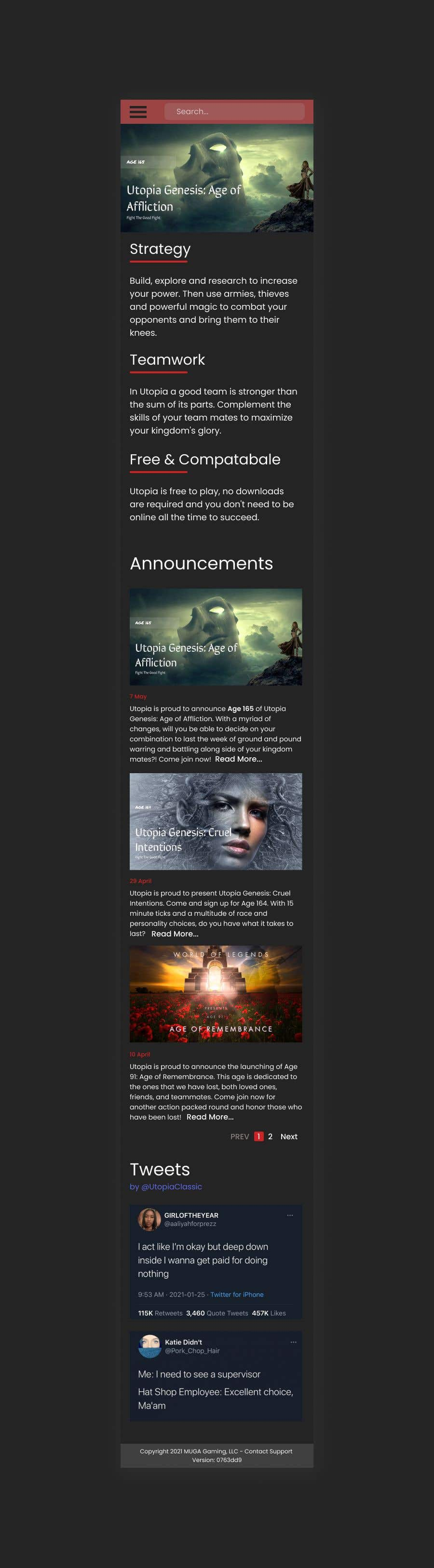 Bài tham dự cuộc thi #                                        40                                      cho                                         Utopia Game Home Page and Logo