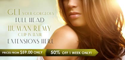 #17 untuk Design a Banner for hair brand oleh uheybaby