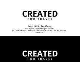 alisojibsaju tarafından CREATED FOR TRAVEL Logo design için no 535