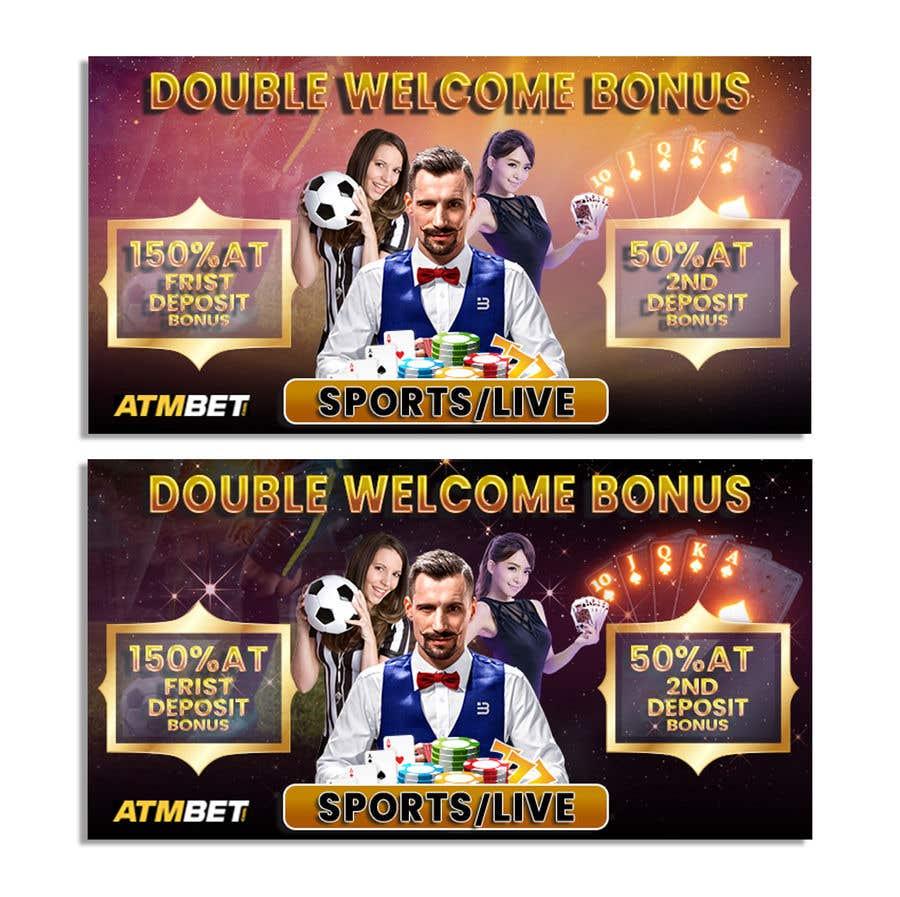 Proposition n°                                        26                                      du concours                                         Double Welcome Bonus Banner