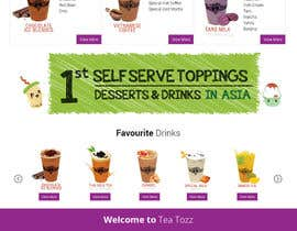 #20 for Design a Website Mockup for Bubble Tea business by Lakshmipriyaom