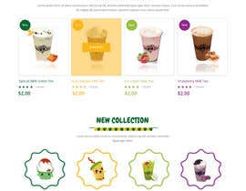 #11 for Design a Website Mockup for Bubble Tea business af syrwebdevelopmen