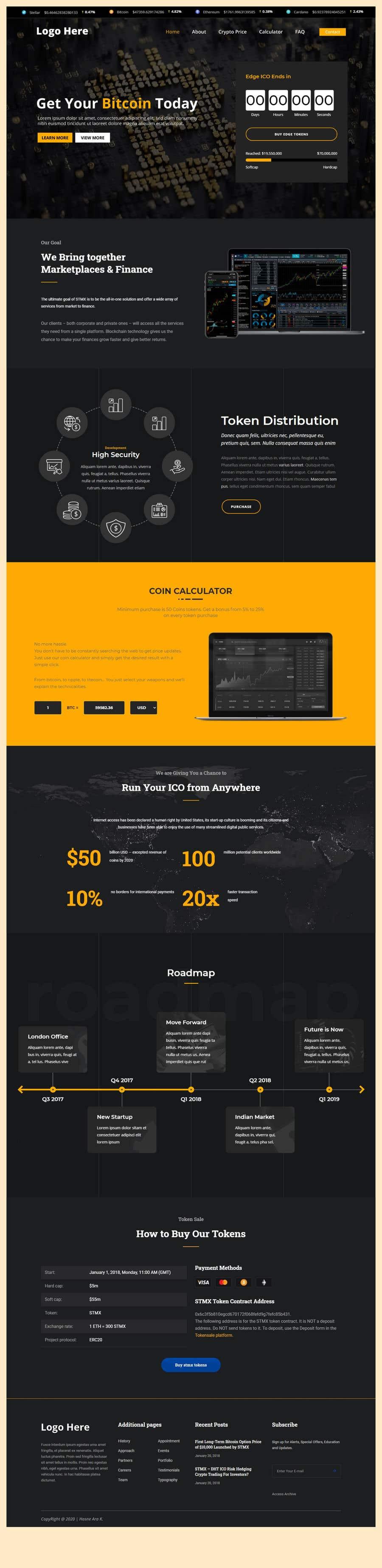 Penyertaan Peraduan #                                        3                                      untuk                                         Contest – Crypto Information Website Section: $100