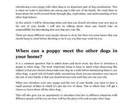 #19 para Write two blog articles about raising puppies (opportunity for long-term collaboration) por sazidahmmad