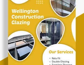 junaidjaved310 tarafından design a flyer for wellington construction glazing için no 77