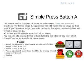 #18 cho Graphic Design , an Icon set images to make GIF based animated UX Buttons. bởi Akhy99