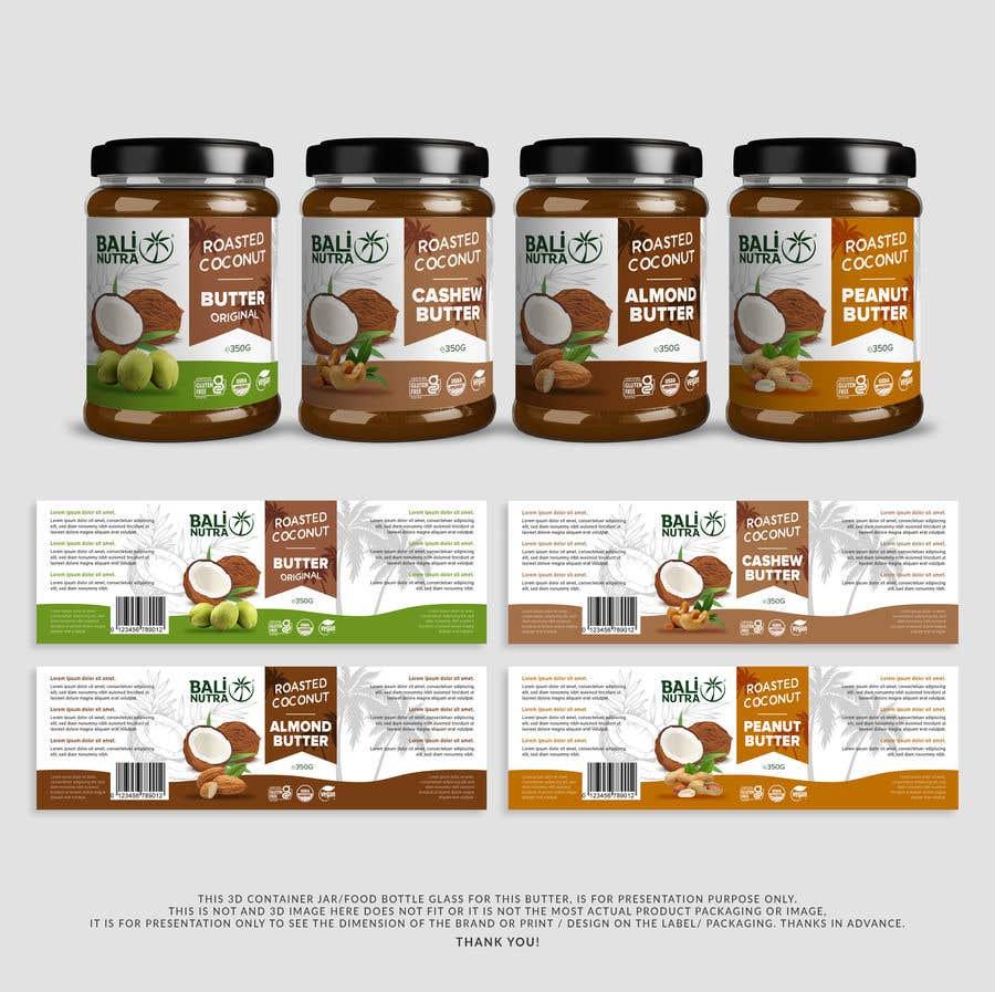 Konkurrenceindlæg #                                        11                                      for                                         Food Label design (4 x flavors of Butter, Almond, Peanut, Cashew, Original)
