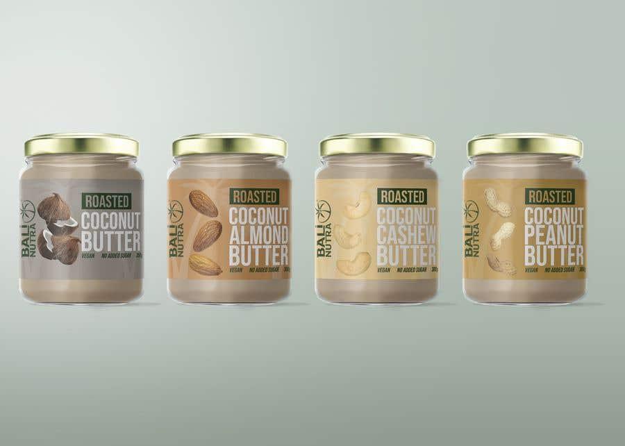 Konkurrenceindlæg #                                        13                                      for                                         Food Label design (4 x flavors of Butter, Almond, Peanut, Cashew, Original)