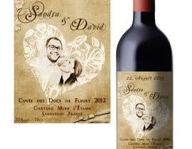 #32 untuk Design a wine bottle label for a wedding! oleh DragonFly0626