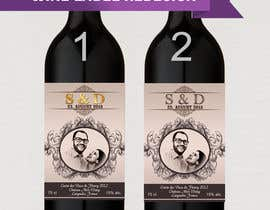 nº 9 pour Design a wine bottle label for a wedding! par AhmedAmoun