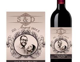 AhmedAmoun tarafından Design a wine bottle label for a wedding! için no 20