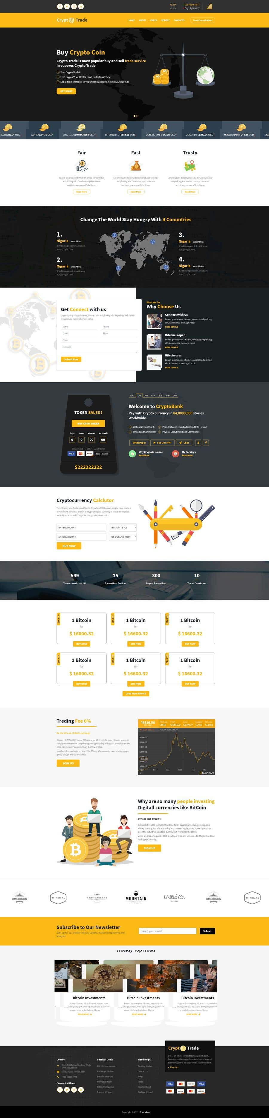 Contest Entry #                                        42                                      for                                         Design Website for Crypto Coin