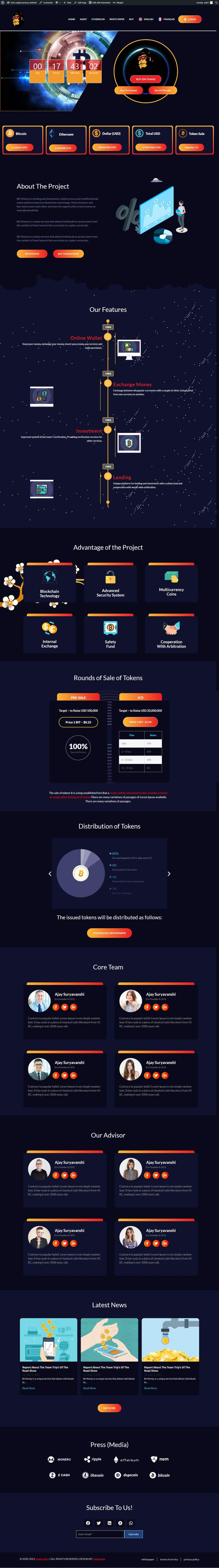 Contest Entry #                                        40                                      for                                         Design Website for Crypto Coin