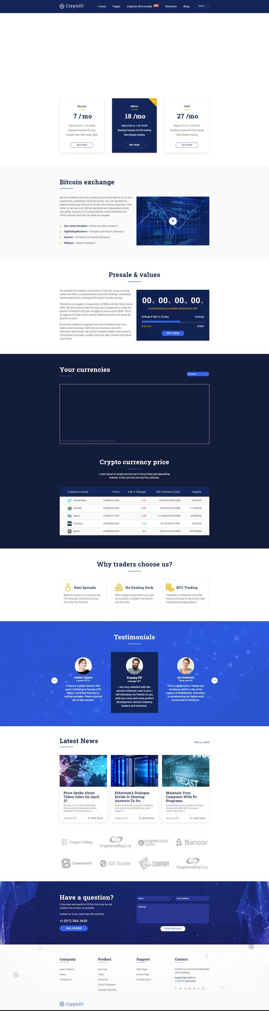 Contest Entry #                                        45                                      for                                         Design Website for Crypto Coin