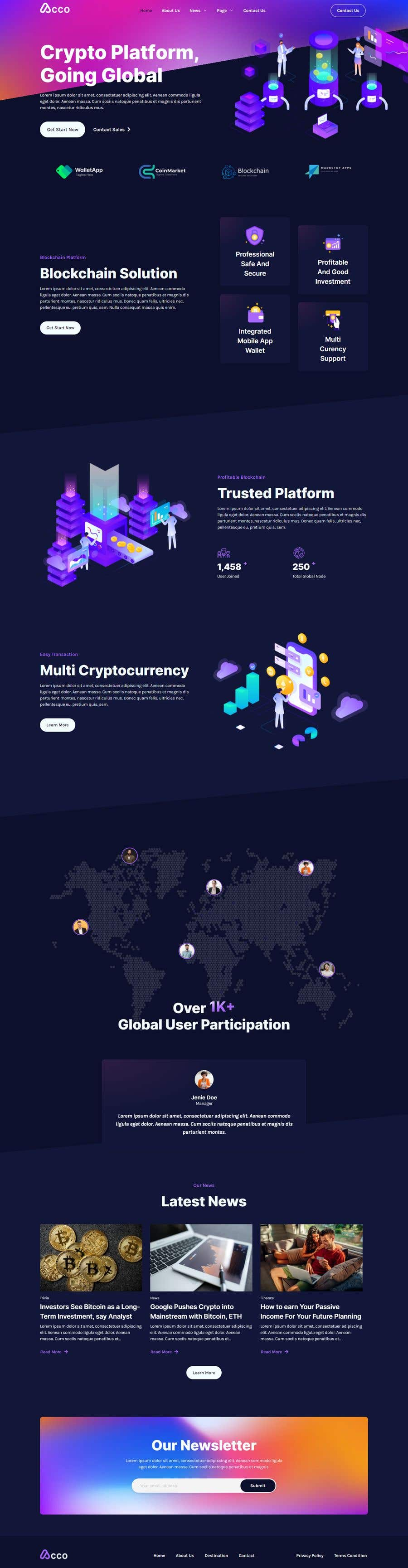 Contest Entry #                                        48                                      for                                         Design Website for Crypto Coin