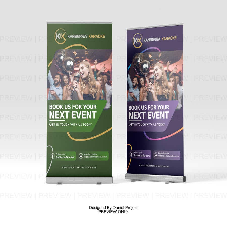 Contest Entry #                                        14                                      for                                         Pull Up Banners - For my Karaoke Business.