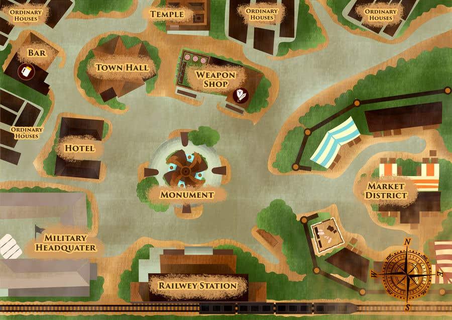 Kilpailutyö #                                        16                                      kilpailussa                                         Нужно нарисовать карту района города для DnD игры.