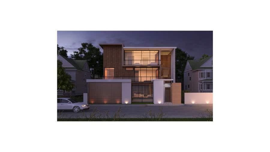 Penyertaan Peraduan #                                        25                                      untuk                                         Facade duplex house proposal desing