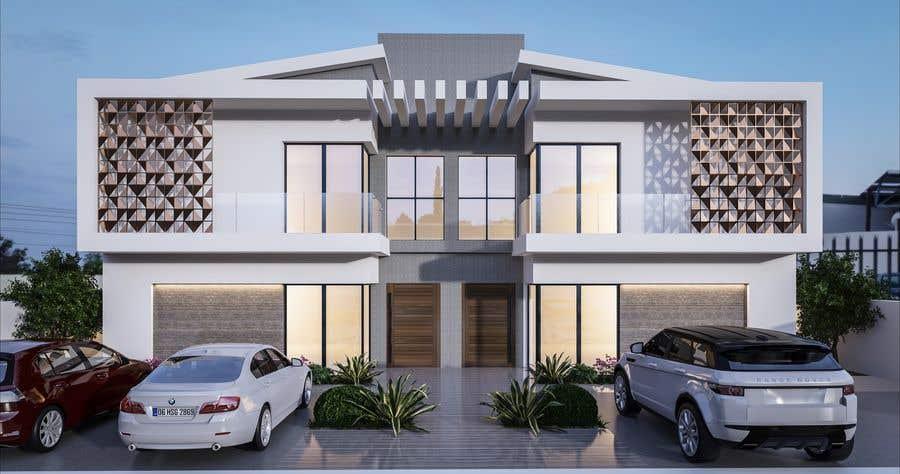 Konkurrenceindlæg #                                        6                                      for                                         Facade duplex house proposal desing