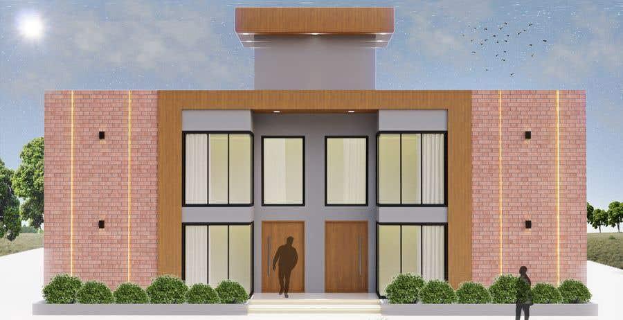 Konkurrenceindlæg #                                        9                                      for                                         Facade duplex house proposal desing
