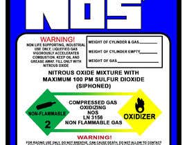 #12 untuk Create sticker for Nitrous bottle oleh alhodairyp