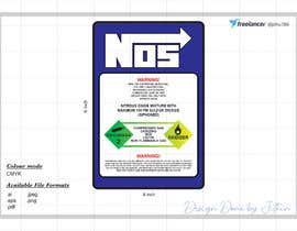 #11 untuk Create sticker for Nitrous bottle oleh jithu789