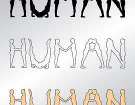 #45 untuk We need a vector illustration of the word 'HUMAN' made out of people oleh mashiur3691