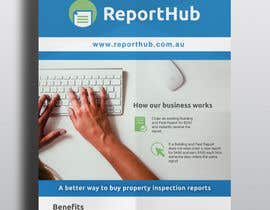 #5 untuk Design a Flyer for our business www.ReportHub.com.au oleh melissacuellom