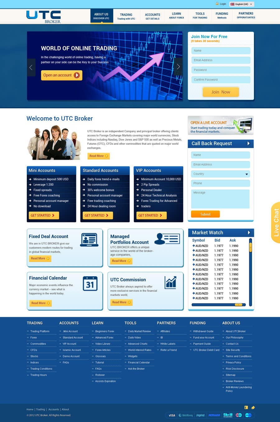 #21 for Design a Website Mockup for finance website by phpjoomlagroup
