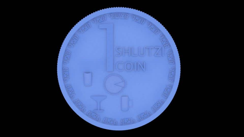 Contest Entry #                                        5                                      for                                         Design a 3D coin for me to 3D print