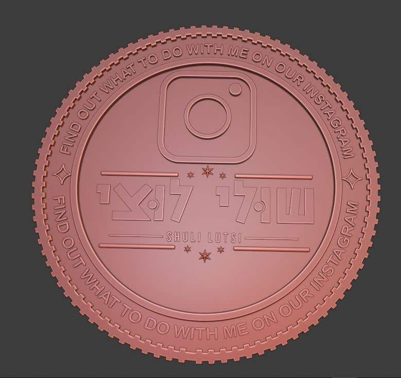 Contest Entry #                                        17                                      for                                         Design a 3D coin for me to 3D print