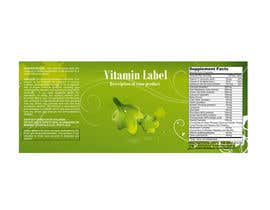 #58 para Creating Vitamin Bottle Labels - Will pick 10 Winners por illidansw