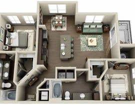 Nro 7 kilpailuun top floor apartment reconstruction design, plan, skizzy, architect job käyttäjältä ArtashaAmran