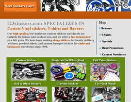 #9 untuk Re-design ideas for 123stickers.com oleh khatripunam
