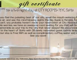 #17 for Design a Gift certificate fot a Hotel stay for 2 nights af Parnasus