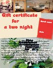 Graphic Design Contest Entry #6 for Design a Gift certificate fot a Hotel stay for 2 nights