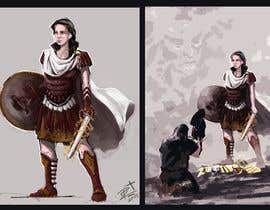 "#18 for Illustrate Female Character ""Ferra Romana"" by KamilPr"