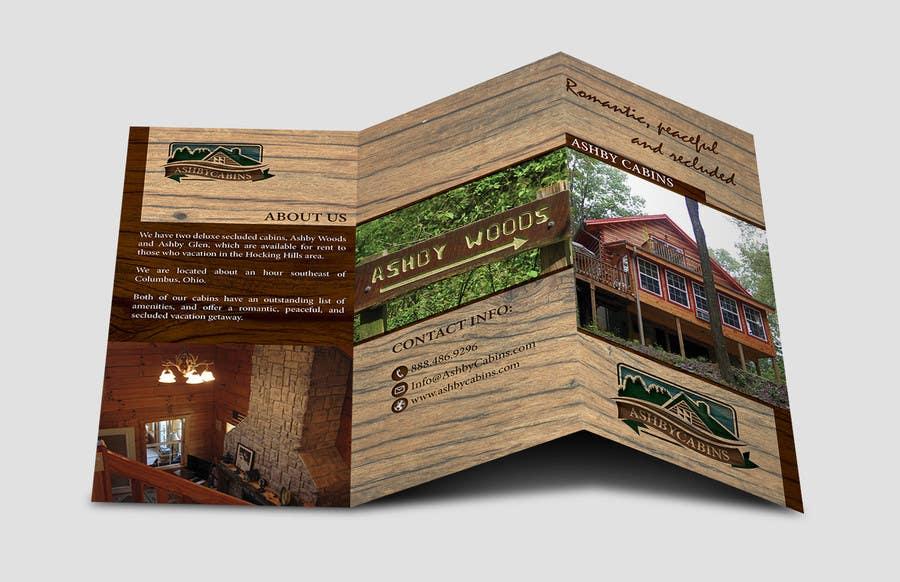 Penyertaan Peraduan #5 untuk Design a Brochure for Ashby Cabins